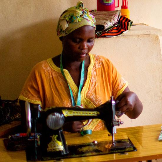 Rwanda foot pedal sewing