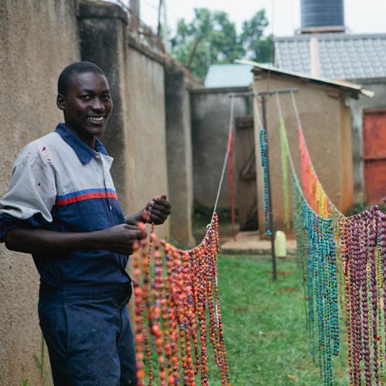 Uganda paper beads