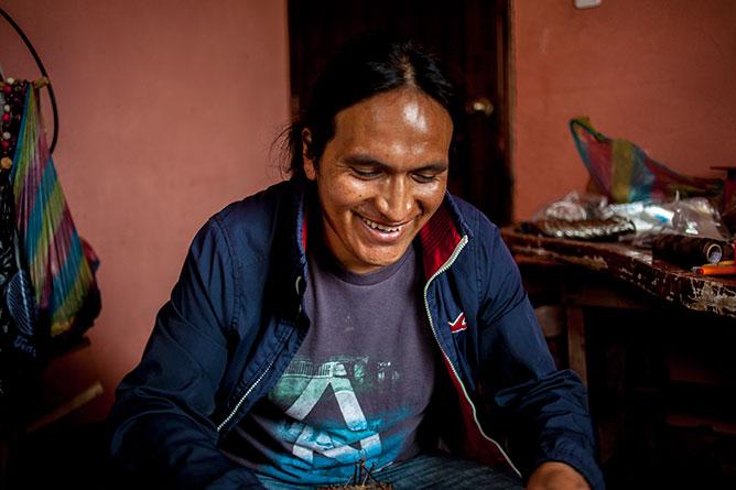 Artisan Luis in Ecuador