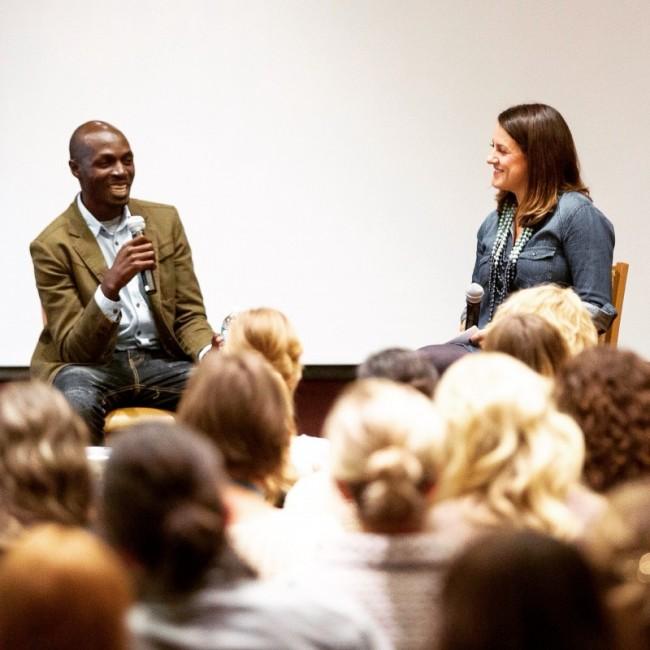 Jamie Ivey and Ugandan Artisan Entrepreneur Daniel