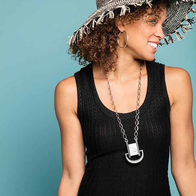 Marble Pendant Necklace | Noonday Collection