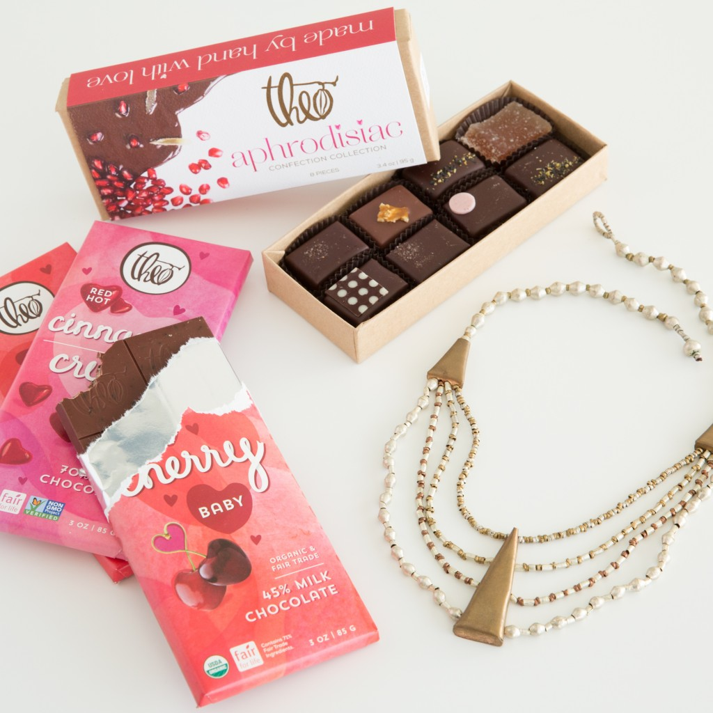 Theo Chocolate and Sheba Necklace